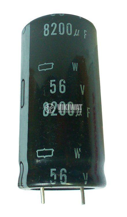 Кондензатор електролитен 56 V, 8200 µF, Ф30x60 mm