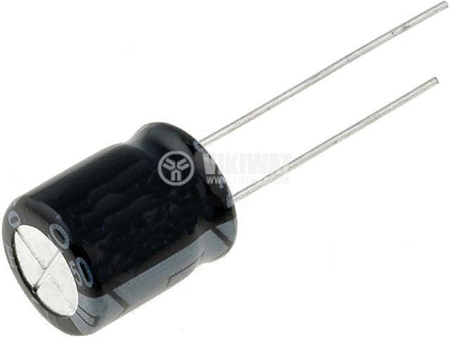 Електролитен кондензатор 100 V, 10 µF, Ф6.3x12 mm