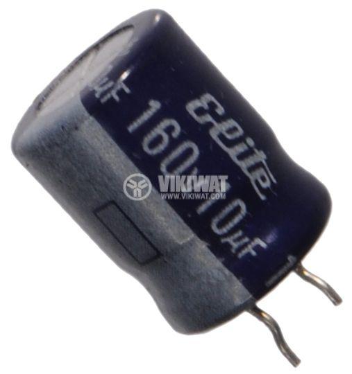 Кондензатор електролитен 160 V, 10 uF, Ф10x13 mm