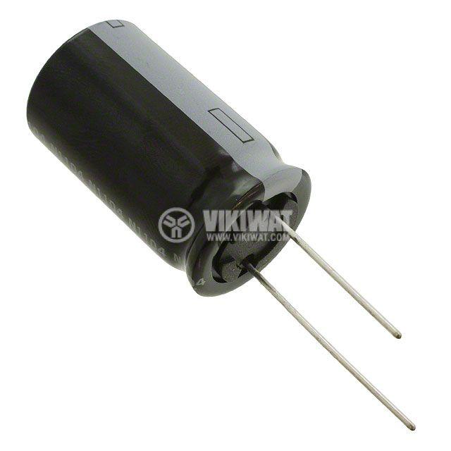 Кондензатор електролитен 130 V, 100 µF, Ф18x38 mm