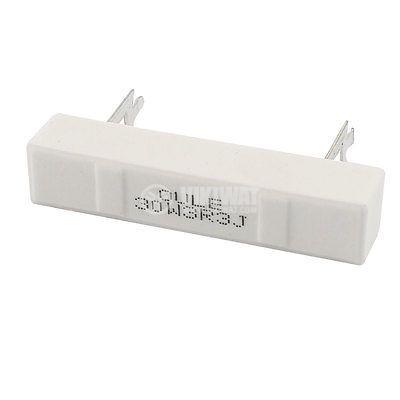 Резистор, керамичен 30W3RW3J, 3.3Ω/30W, 5%, 58X10X10mm - 1