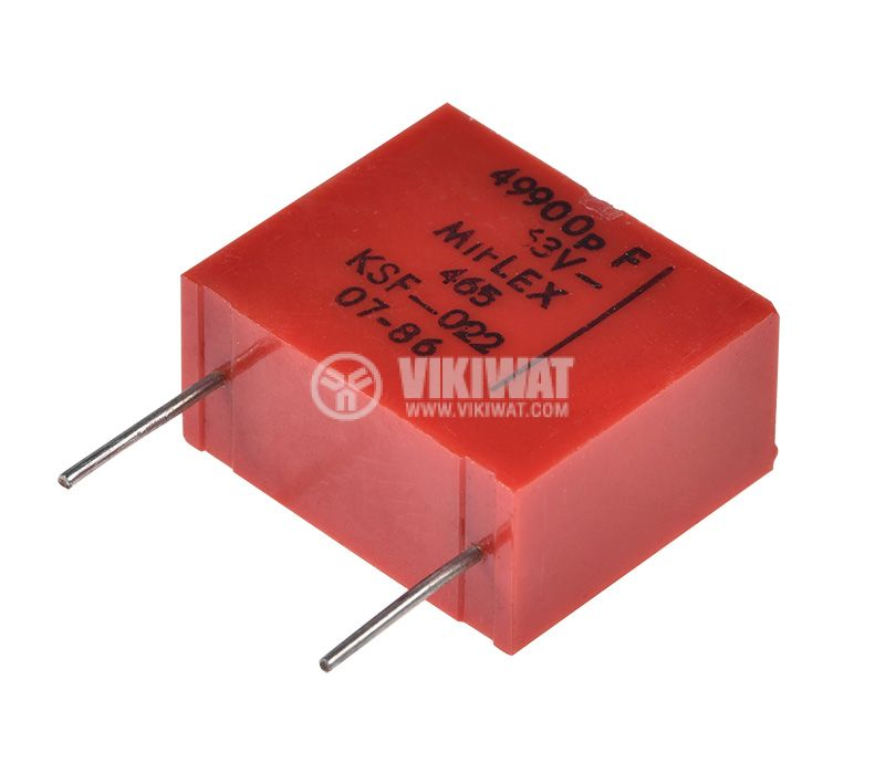 Capacitor polyester, 49.9nF, 63VDC, ±1%   - 2