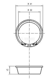 Ултразвуков трансдюсер, PCT-G4000, 2.83Vrms, 90dB, Ф41x12mm - 2