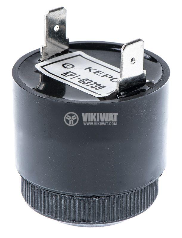 Piezo buzzer, KPI-G3739, 12VDC, 90dB, 2.9kHz, Ф36x46.5mm, with generator - 4