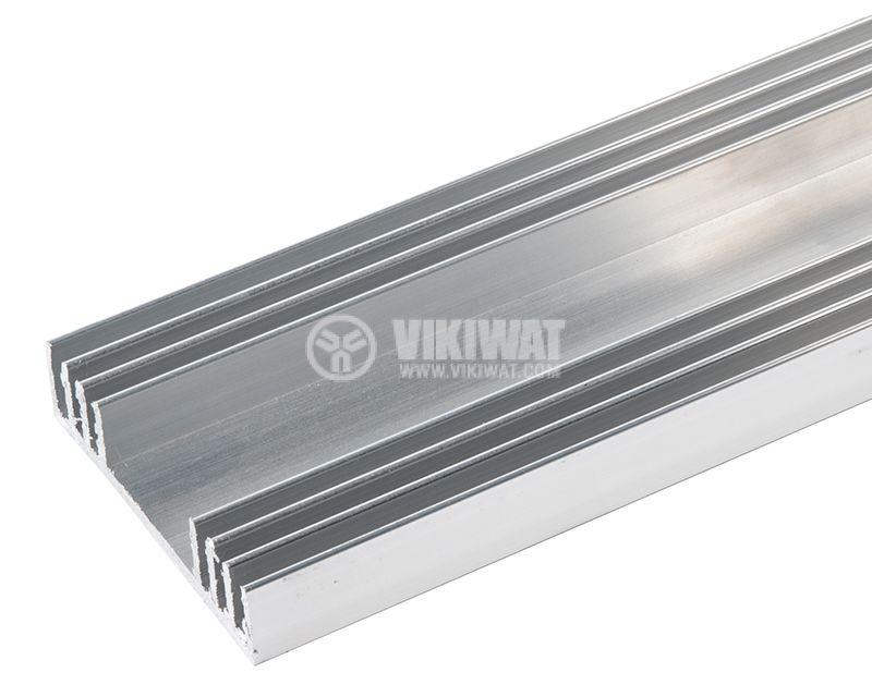 Aluminum cooling radiator profile 1000mm 78x20 mm - 1