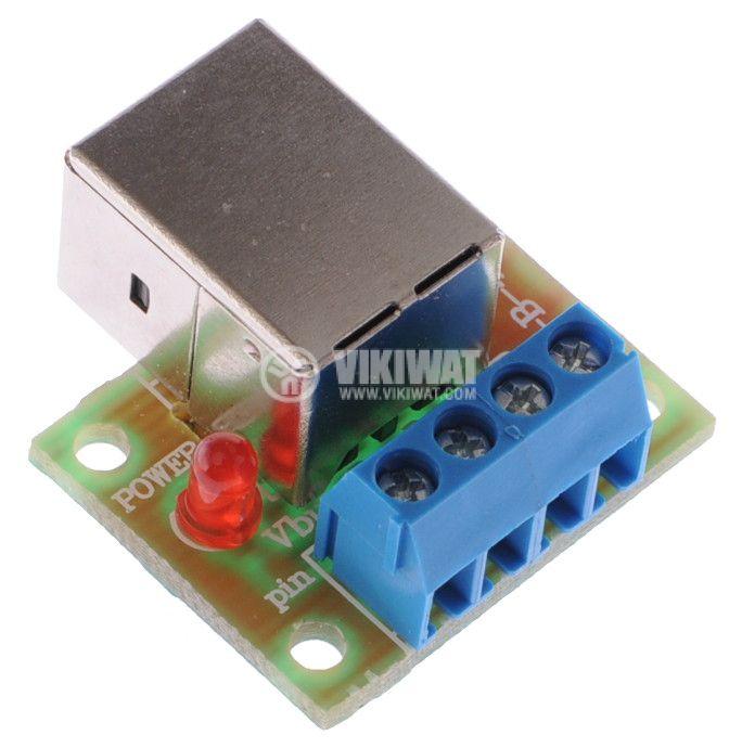 Converter USB-B - 4pin - 2