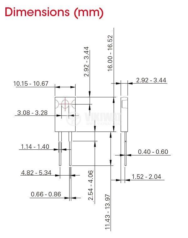 Резистор thick film, 0.1 Ohm, 50W, +/- 5%, THT, TO220, от -65 до +150°C, изолиран корпус - 2