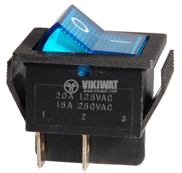 Клавишен превключвател, MK 521 B/N, 15A/250VAC, DPST - 1