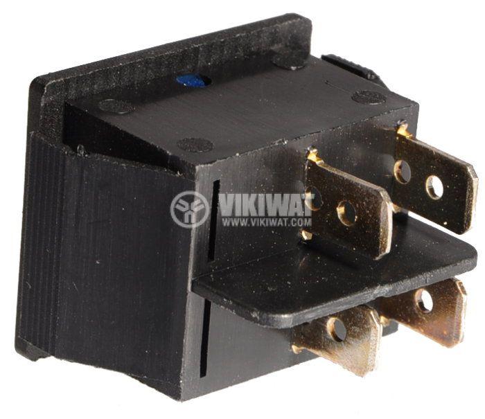 Клавишен превключвател, MK 521 B/N, 15A/250VAC, DPST - 2