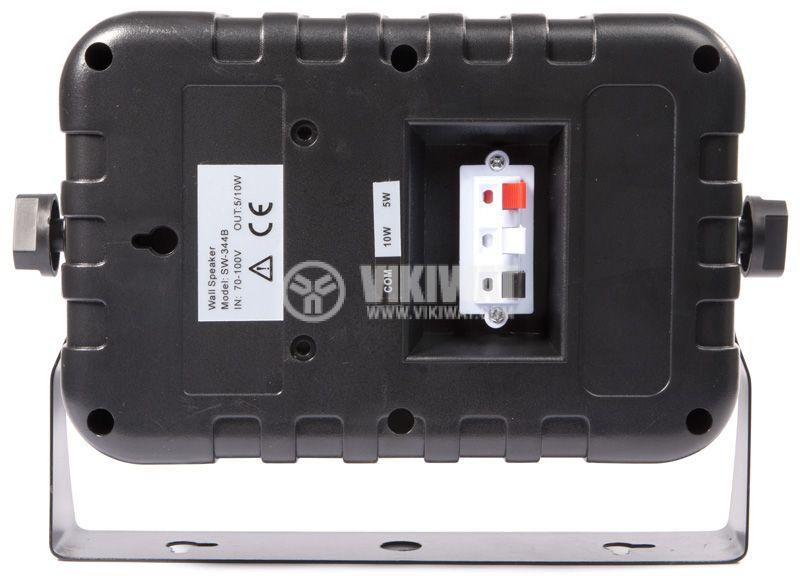 Wall speaker SW-344B, 5 / 10W, 70-100V, black, PVC - 3