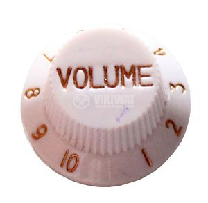 Копче за потенциометър за китара KB001 VOLUME бяло