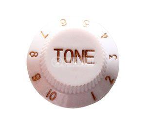 Копче за потенциометър за китара KB001 TONE бяло