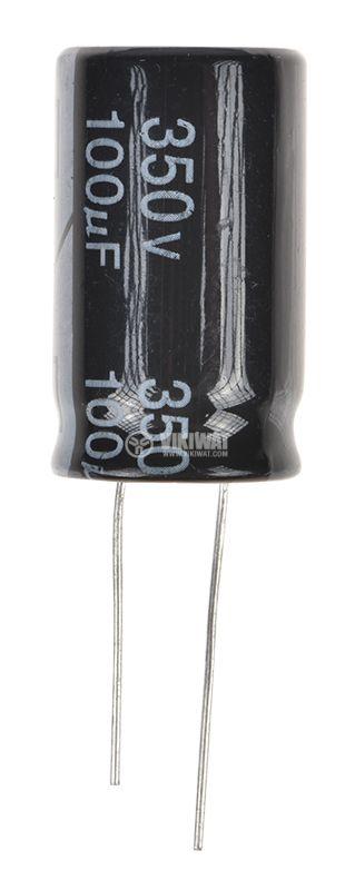 Кондензатор CD268, електролитен, 350V, 100µF, Ф18x31mm - 2