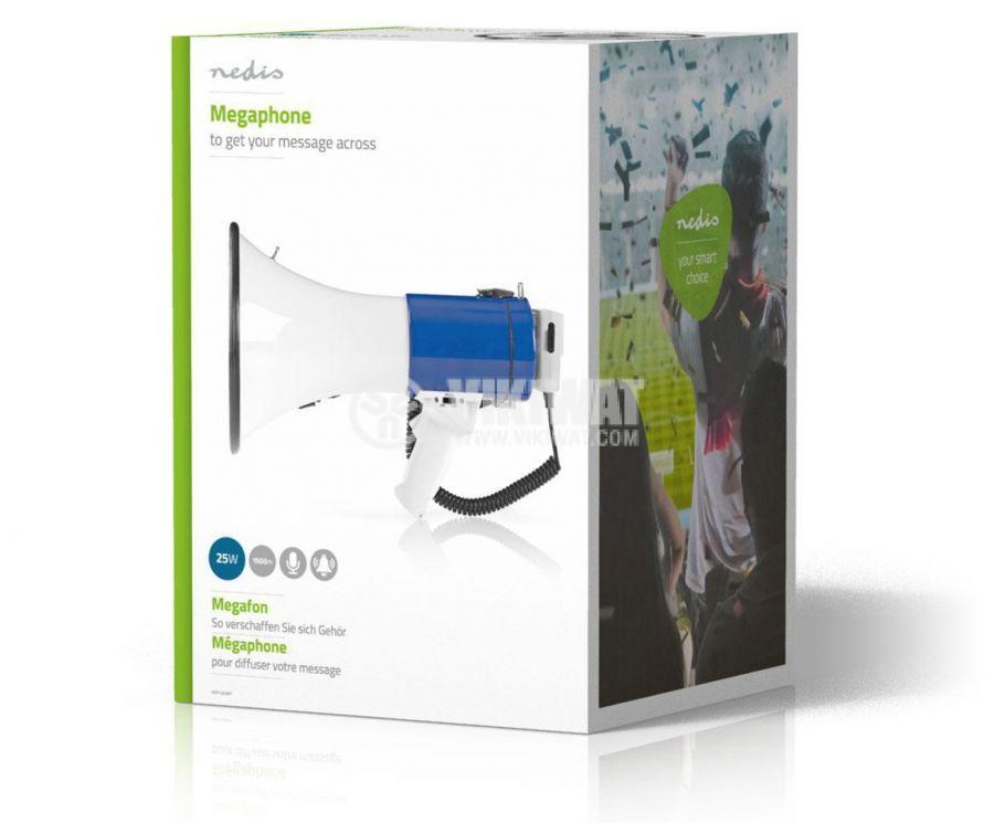 Megaphone 25W 1500m white 8xD/LR20 Nedis MEPH200WT - 6
