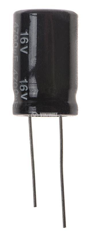 Кондензатор електролитен 4700uF, 16V, THT, ф16x25mm, Low ESR, нисък импеданс - 1