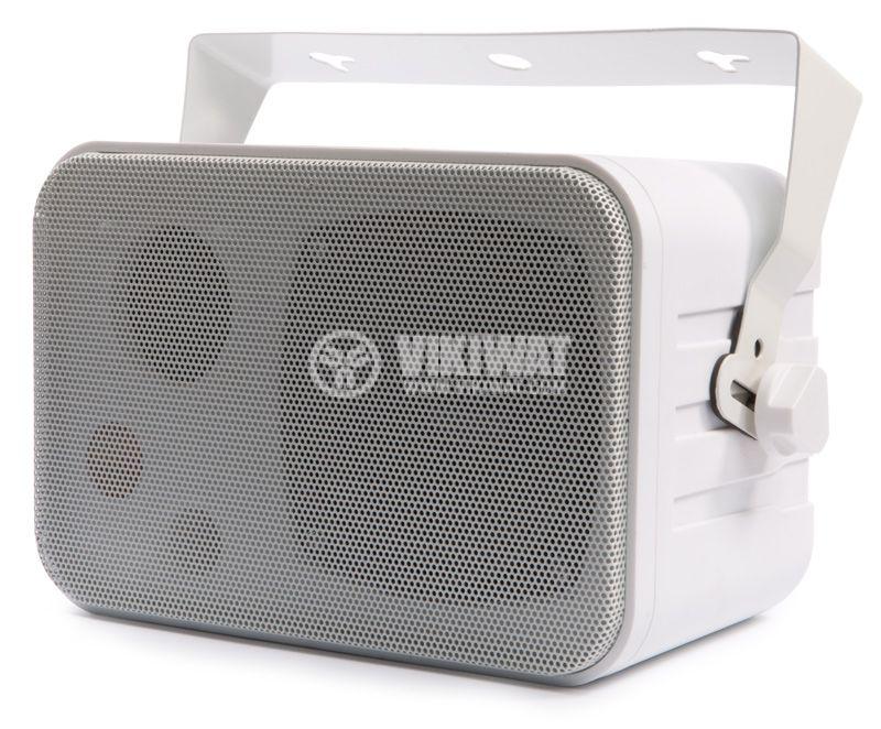 Wall speaker SW-344W, white, PVC, 70-100V, 5/10W - 1