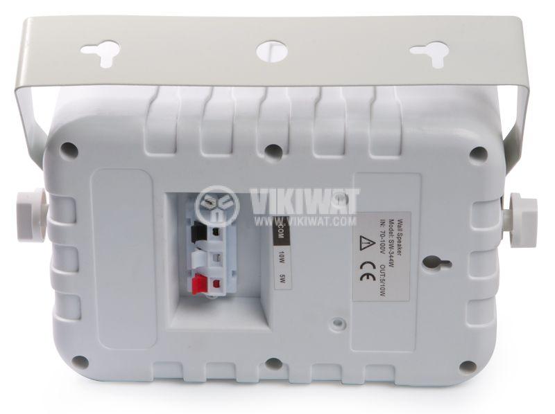 Wall speaker SW-344W, white, PVC, 70-100V, 5/10W - 2