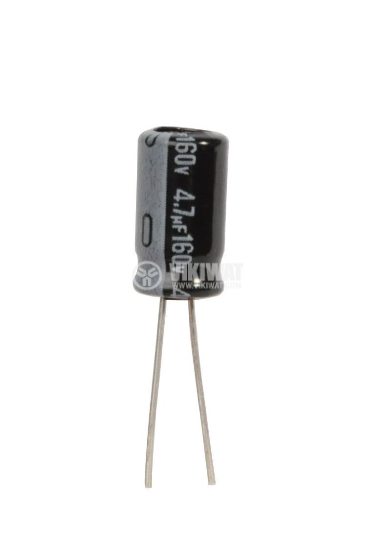 Electrolytic capacitor 160V, 4.7µF, Ф6.3x11mm