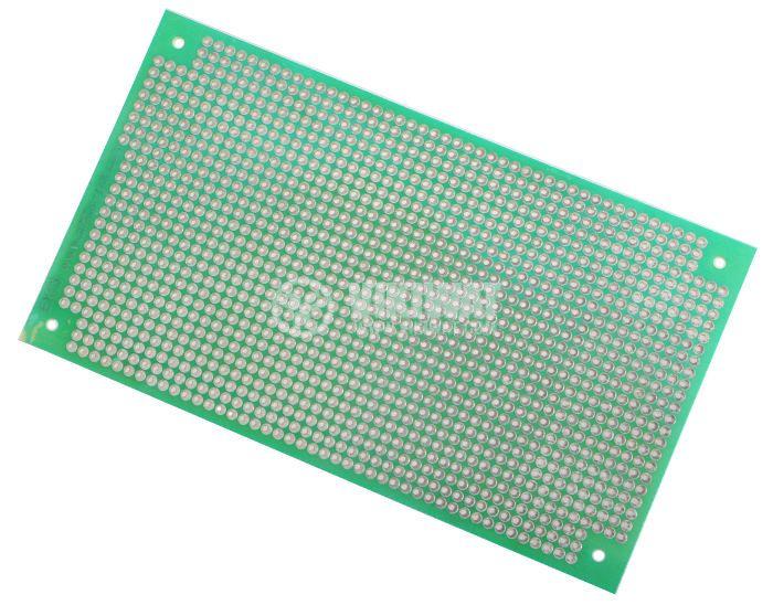 Universal PCB, single sided,EX13, 75x130mm, 2.54mm