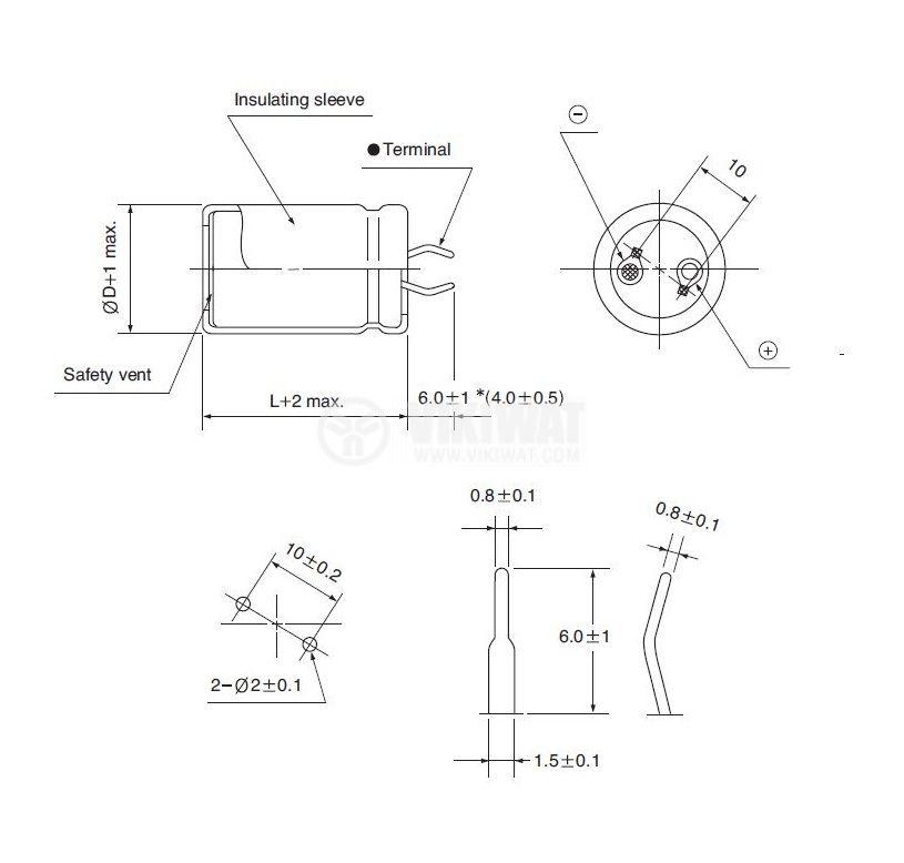 Кондензатор електролитен 450 V, 330 µF, Ф30x50 mm, snap-in - 3