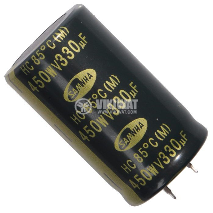 Кондензатор електролитен 450 V, 330 µF, Ф30x50 mm, snap-in - 1