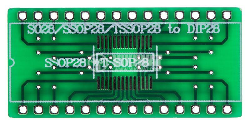 Circuit board SO28, SOIC28, TSSOP28, SSOP28 to DIP28  - 1