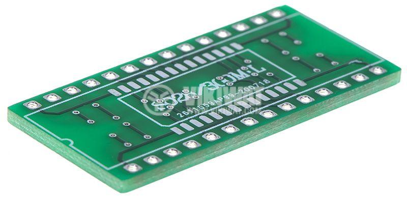 Circuit board SO28, SOIC28, TSSOP28, SSOP28 to DIP28   - 3
