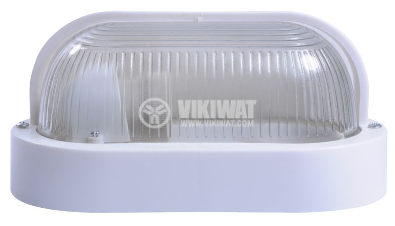 Lighting fixture, RINO 500AF0006110, kidney shaped with visor, IP44, waterpoof, E27, white - 2