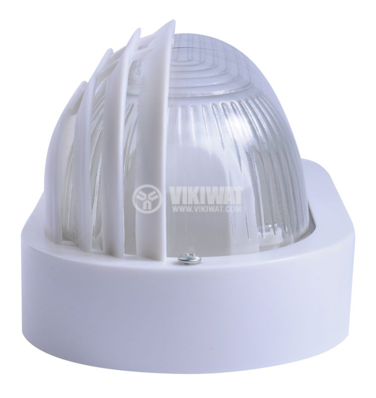 Lighting fixture, RINO 500AF0006110, kidney shaped with visor, IP44, waterpoof, E27, white - 3