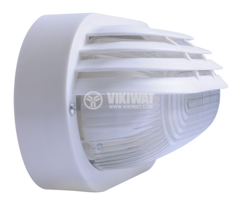 Lighting fixture, RINO 500AF0006110, kidney shaped with visor, IP44, waterpoof, E27, white - 5
