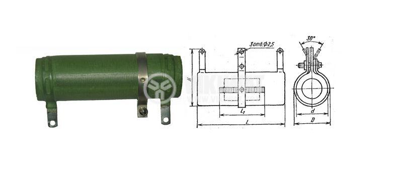 Резистор керамичен С5-36В-25Вт 10 Ohm  25W ±5% Ф22x50mm регулируем