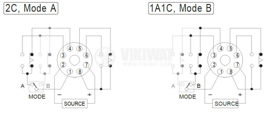 Analogue Time Relay, AH3-ND, 12VDC, SPDT or DPDT, 5A, 1min - 10h - 2