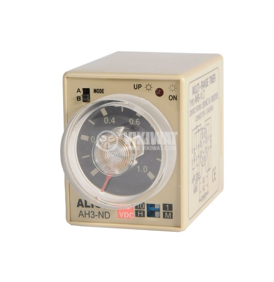 Analogue Time Relay, AH3-ND, 12VDC, SPDT or DPDT, 5A, 1min - 10h - 1