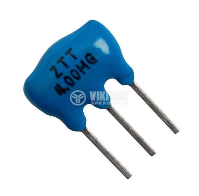 Кварцов резонатор ZTT 4 MHz 3 извода