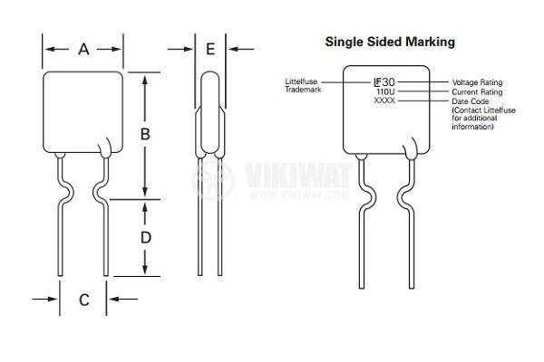 Предпазител полимерен възстановяем PTC 1.85 A, 30 VDC - 4