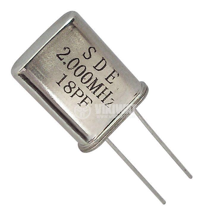 Кварцов резонатор 2.000 MHz