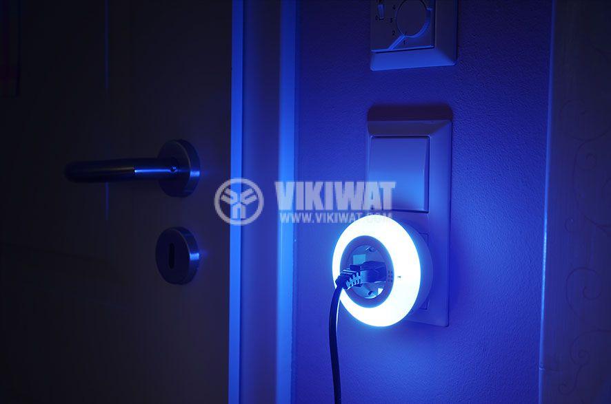 LED nightlight Color NL 09 RCD, Brennenstuhl, with twilight sensor and socket 9 LED 6lm - 5