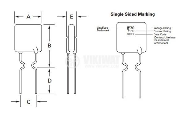 Предпазител полимерен възстановяем PTC 900 mA, 30 VDC  - 4