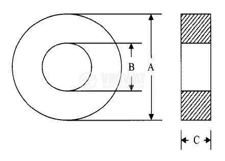 Ферит тороидален 10x6x4.5 mm, M1000 - 2