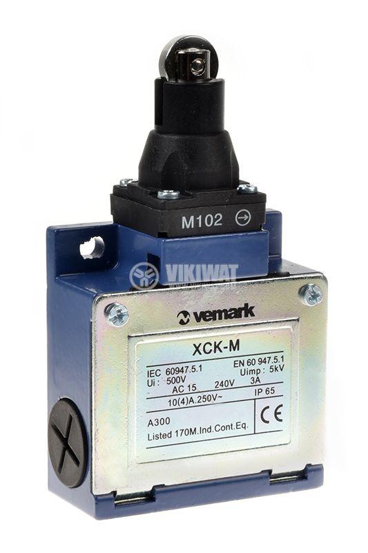Краен изключвател, XCK-M102, DPST-NO+NC, 3A/240VAC, ролка - 1