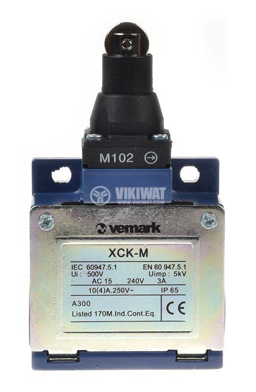 Краен изключвател, XCK-M102, DPST-NO+NC, 3A/240VAC, ролка - 2