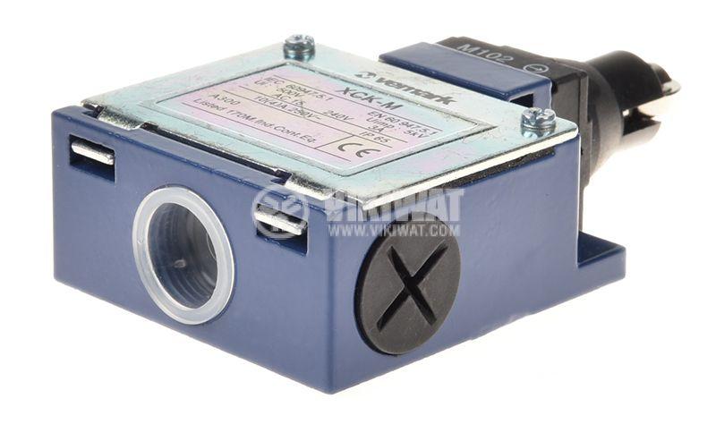 Краен изключвател, XCK-M102, DPST-NO+NC, 3A/240VAC, ролка - 4