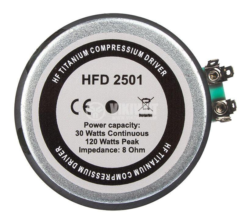 Speaker driver HFD-2501, 30W, 8Ohm, Ф80mm - 2
