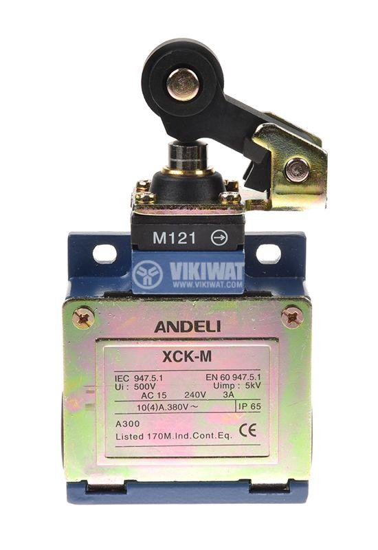 Краен изключвател XCK-M121, DPST-NO+NC, 3A/240VAC, рамо с ролка - 2