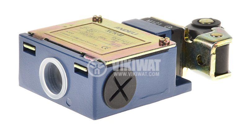 Краен изключвател XCK-M121, DPST-NO+NC, 3A/240VAC, рамо с ролка - 4