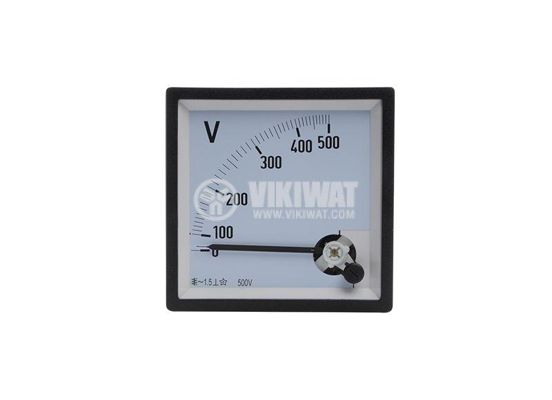 Волтметър 500VАC, SX96,  96X96mm, директно свързване - 1