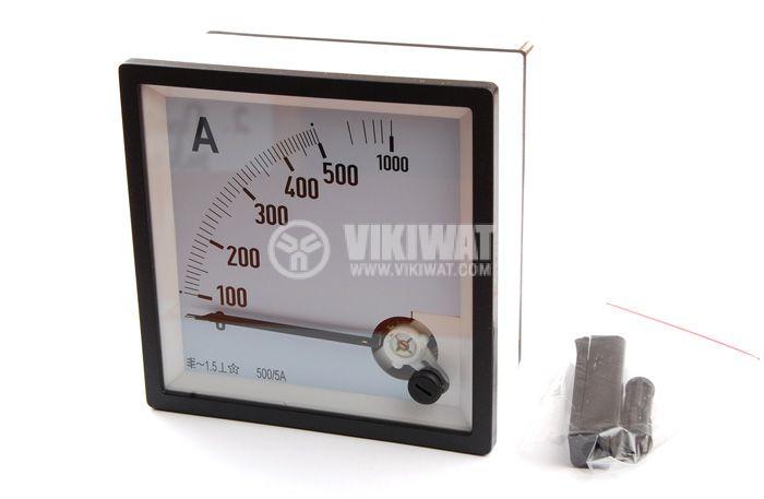 Амперметър, 100-500 A / 1000 A, AC SX96 с външен токов трансформатор 500/5 А
