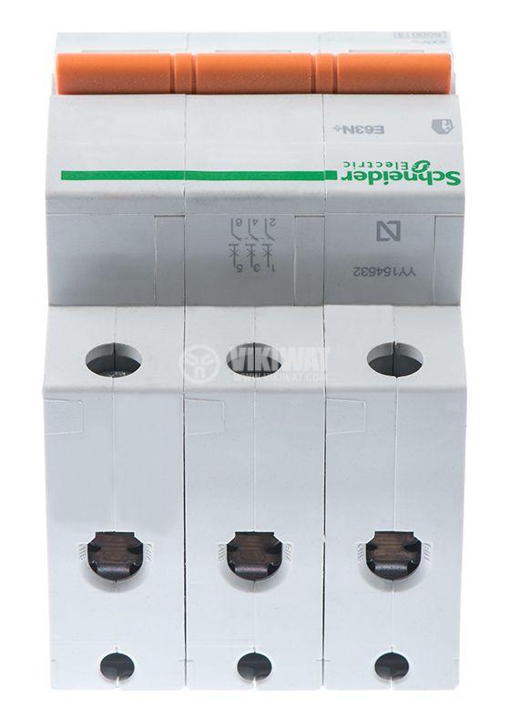 Предпазител автоматичен, триполюсен, 3x20A, E63N BG, C крива, DIN шина - 6
