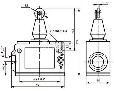 Краен изключвател МП1203 УХЛ3 - 2