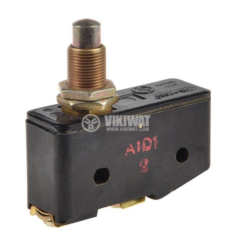 Краен изключвател, A1D1, SPDT-NO+NC, 16 A, 380 VAC, щифт - 1